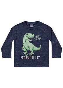 Camiseta Menino M/Longa My Dino