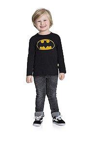 Camiseta Menino M/Longa Batman