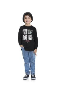 Camiseta Menino M/Longa Skateboard