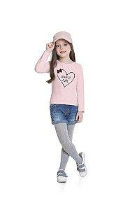 Blusa Menina M/Longa Lovery Girl