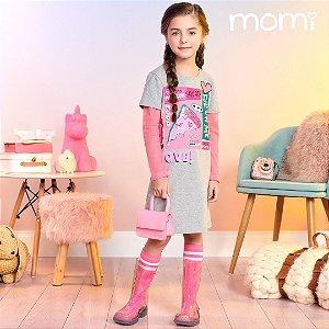 Vestido M/Longa Fashion Squad Momi