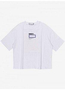 T-Shirt Menina Authoria Branca c/ estampa Costas