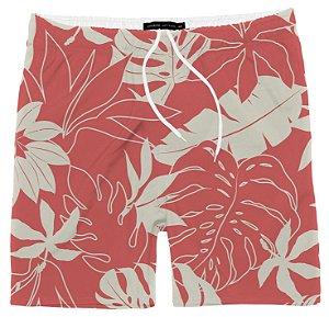 Shorts Masculino Praia Folhagem Coral King & Joe Tam 02 ao 08