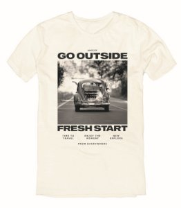 Camiseta T-Shirt Menino Estampa Fusca King & Joe 02 ao 08