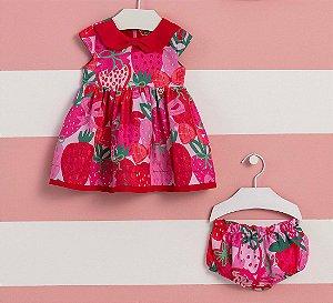 Vestido Bebê c/ Calcinha Verão 2022 Mon Sucre Happy Time