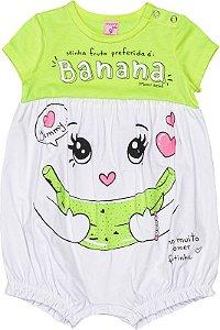 Banho de Sol Menina Verão 2022 Momi Bebê Banana