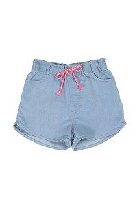 Shorts Feminino Jeans Confort Tinturado