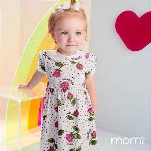 Vestido Momi Bebe Verão 2022 Poa Cute Heart