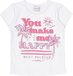 Blusa Momi Verão 2022 You Make Me Happy
