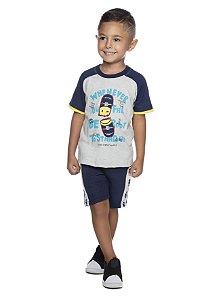Conjunto Masculino Camiseta M/C Algodão e Bermuda em Moletinho