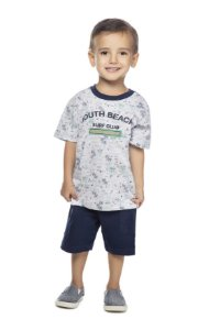Camiseta Masculina 1/2 Malha Cinza Mescla