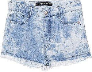 Shorts Feminino Teen Jeans Marmorizado Authoria