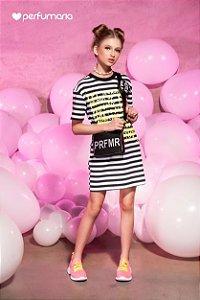 Vestido T-Dress Canelado Listrado Perfumaria
