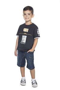 Camiseta Masculina Meia Malha Style Have Fun 10 ao 16