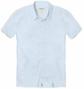 Camisa Masculina Voil M/C Azul 04 ao 08