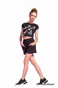 Shorts Feminino Teen Confort Bolsos Perfumaria
