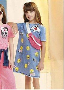 Vestido Jeans Looney Tunes