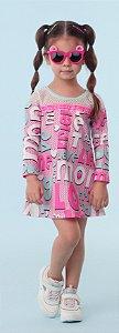 Vestido Mon Sucre Inverno 2021 Manga Longa Bidu Poa