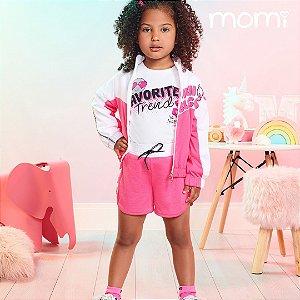 Conjunto Momi Blusa ML Favorite Trend e Short Pink