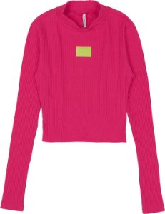Cropped Authoria Canelado Pink Luz