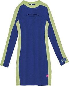 Vestido Authoria Malha Azul Royal