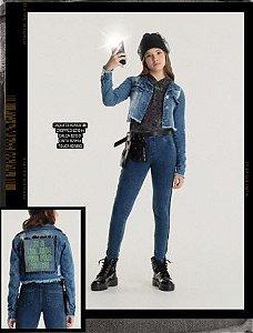 Jaqueta Menina Jeans Galaxy