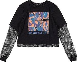 Blusa Feminina Juvenil Riverdale M/Longa C/ Tela