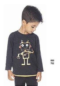 Camiseta Menino M/Longa Robo