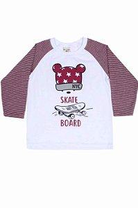 Camiseta Menino M/Longa Mickey Skate