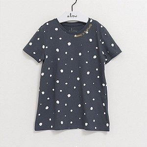 Camiseta unissex de algodão orgânico poá