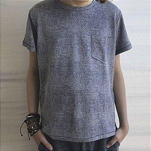 Camiseta dry fit azul mescla
