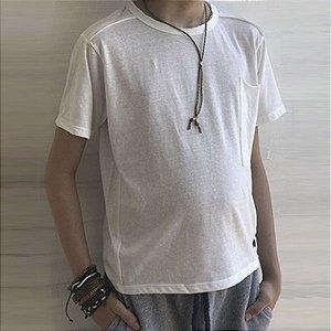 Camiseta malha ecológica c/ colar