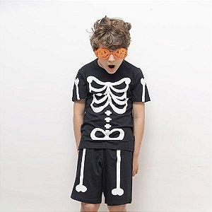 Pijama esqueleto curto