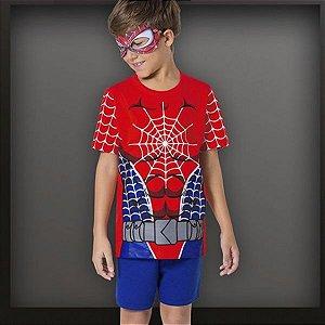 Pijama curto super heróis