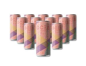 Oceà Rosé de Verano: 269mL (Pack 12 latas + 04 Taças Grátis)  - R$11,99/unid