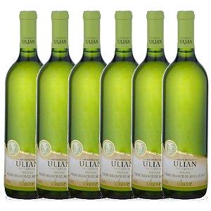 Kit com 6x Ulian Vinho Branco de Mesa Suave Niágara