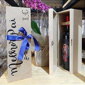 Caixa personalizada para uma garrafa de vinho