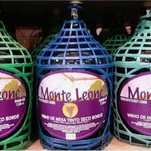 Monte Leone Garrafão Vinho Tinto Seco Bordô 4,6L