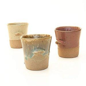Trio Copinhos Beijoka - San.Olí Cerâmica Artesanal