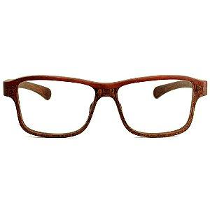 Armação para Óculos Modelo Conexão Pixoxó em Jatobá Hayô
