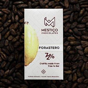 Chocolate Forastero 72% Cacau Mestiço Chocolates