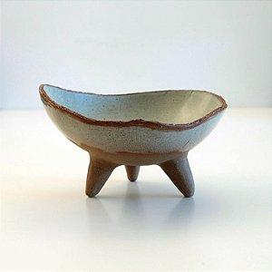 Fruteira De 3 Pés Verde – Coleção Mesa Rústica Sandra Oli Cerâmica