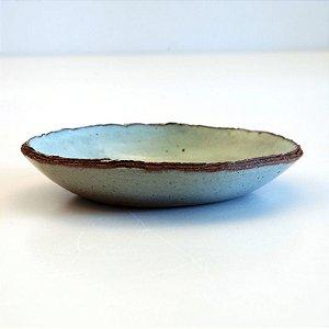 Prato Pequeno Bege – Coleção Mesa Rústica Sandra Oli Cerâmica