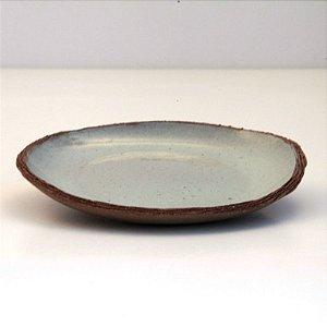 Prato Raso Pequeno – Coleção Mesa Rústica Sandra Oli Cerâmica