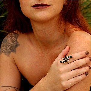 Anel Vênus com Madeira Jacarandá - Mônica Bacci
