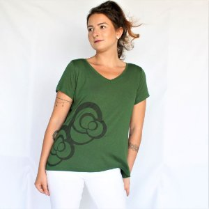 Blusa Bel Verde Escuro - Estampa