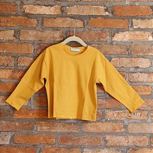 Camiseta Relax Mostarda Manga Longa - BaGuBi