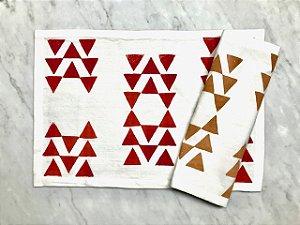 Jogo Americano Estrela Inca Vinho Tapirusprint (dupla)
