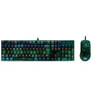 Kit Gamer Redragon Teclado e Mouse Dark Green S108