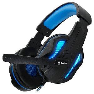 Headset Gamer Evolut Thoth Azul Com Fio Eg 305
